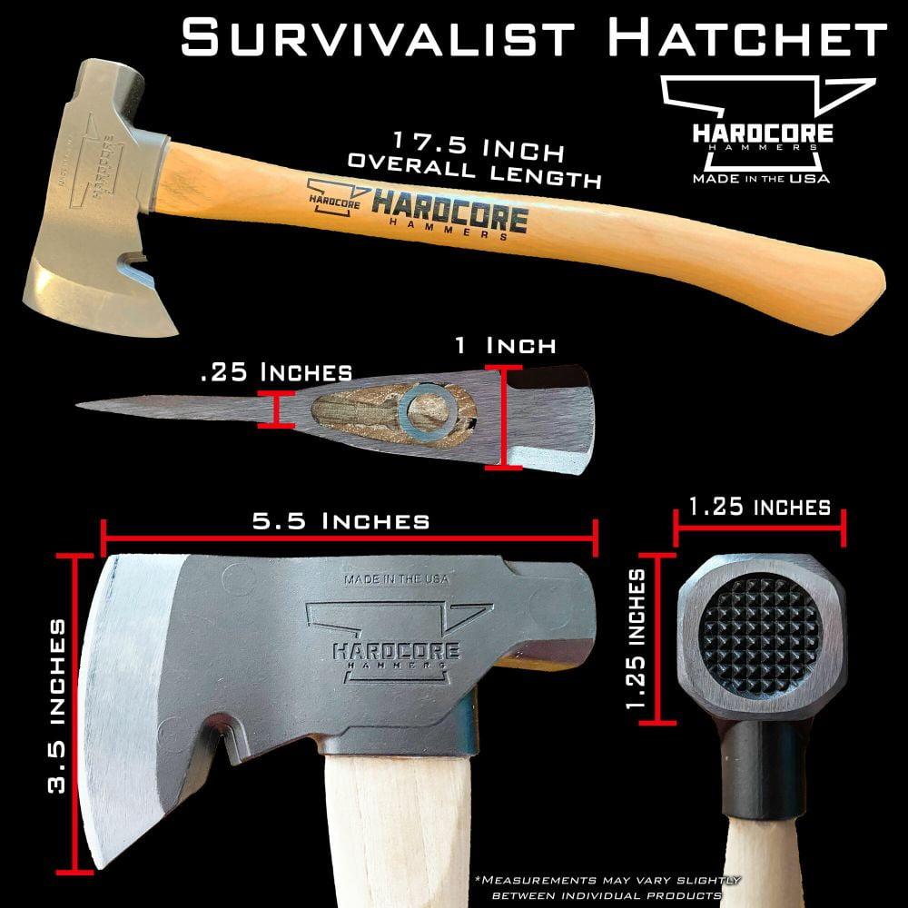 Survivalist Hatchet Dimensions