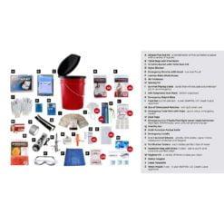 Bucket Survival Kit 4 Person Description
