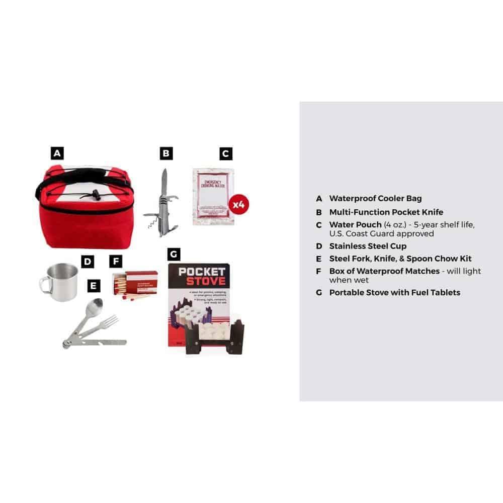 Emergency Food Preparation Kit Description