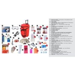 Elite Survival Pack 4 Person Red Wheelbag Description