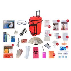 Elite Survival Pack 4 Person Red Wheelbag