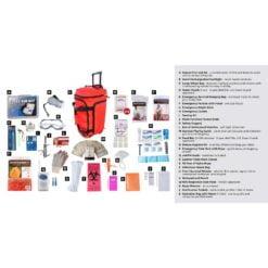 Elite Survival Pack 1 Person Red Wheelbag Description