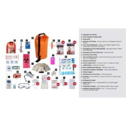 Deluxe Survival 2 Person Orange Drybag Description