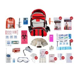 Deluxe Survival Kit 2 Person Red