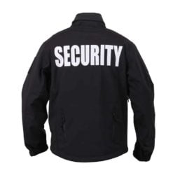 Soft Shell Security Jacket Back