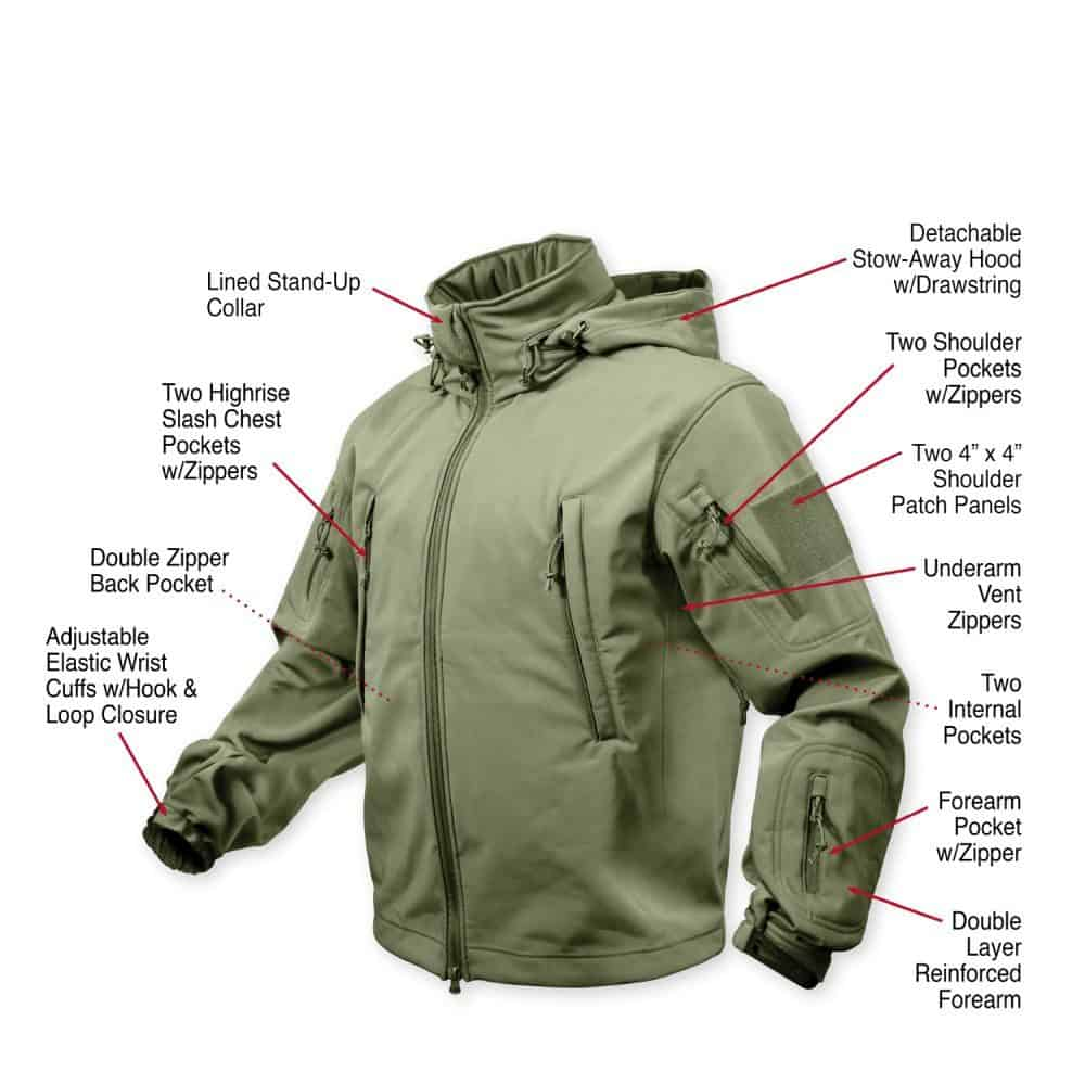 Special Ops Tac Soft Shell OD12