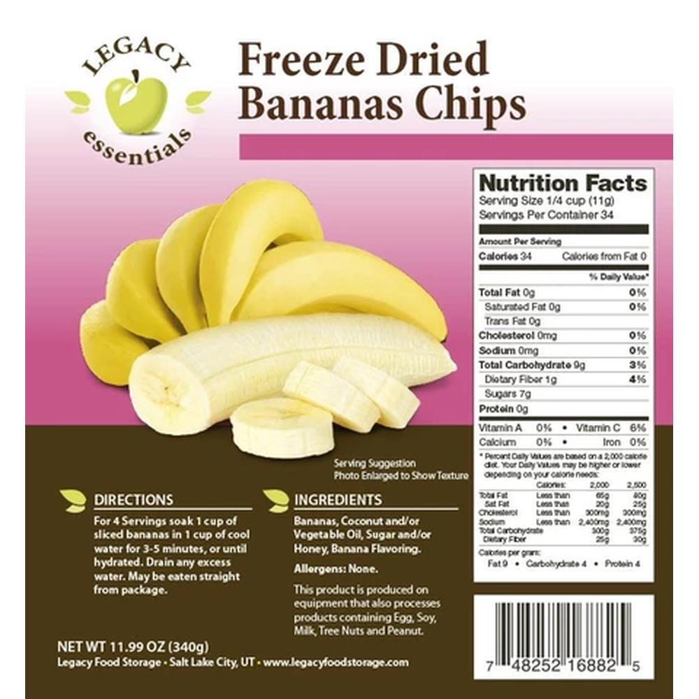legacy Banana Chips Label