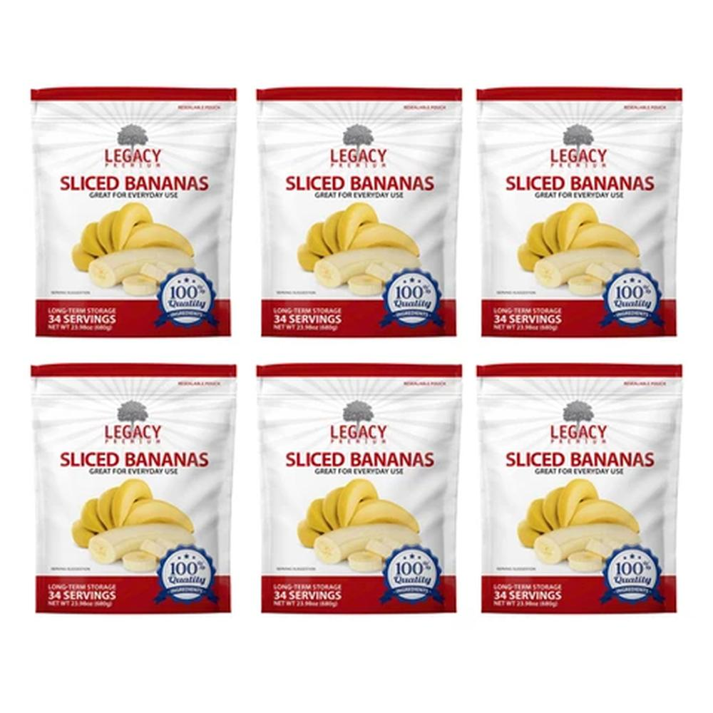 legacy bananas slices six pack