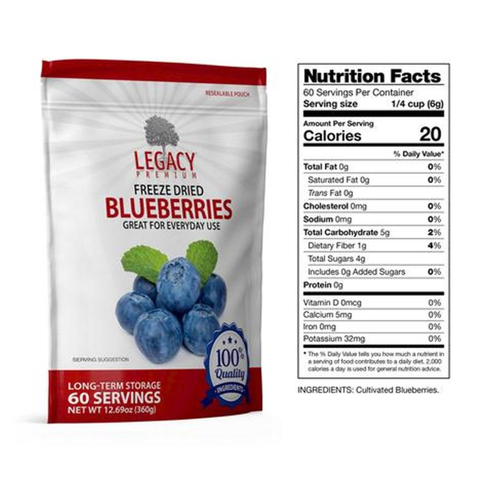 legacy blueberries slices fact
