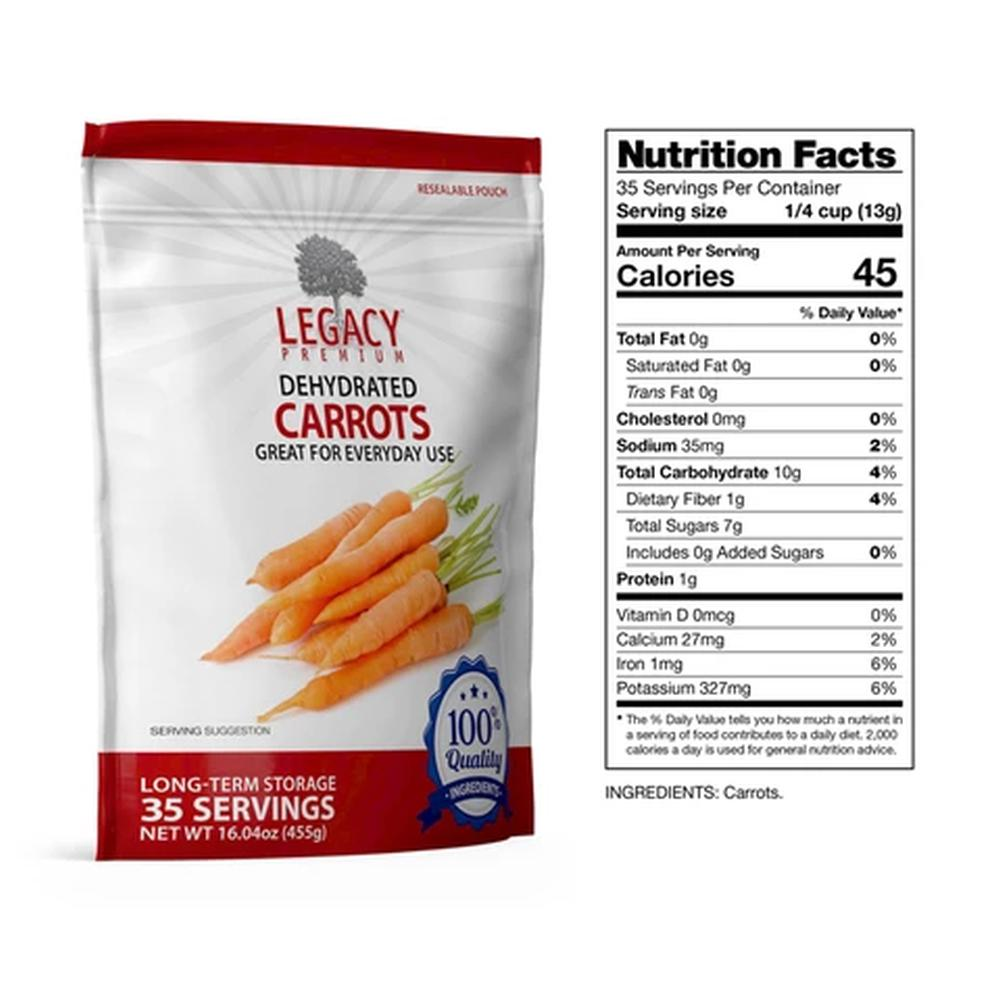 legacy carrots slices fact
