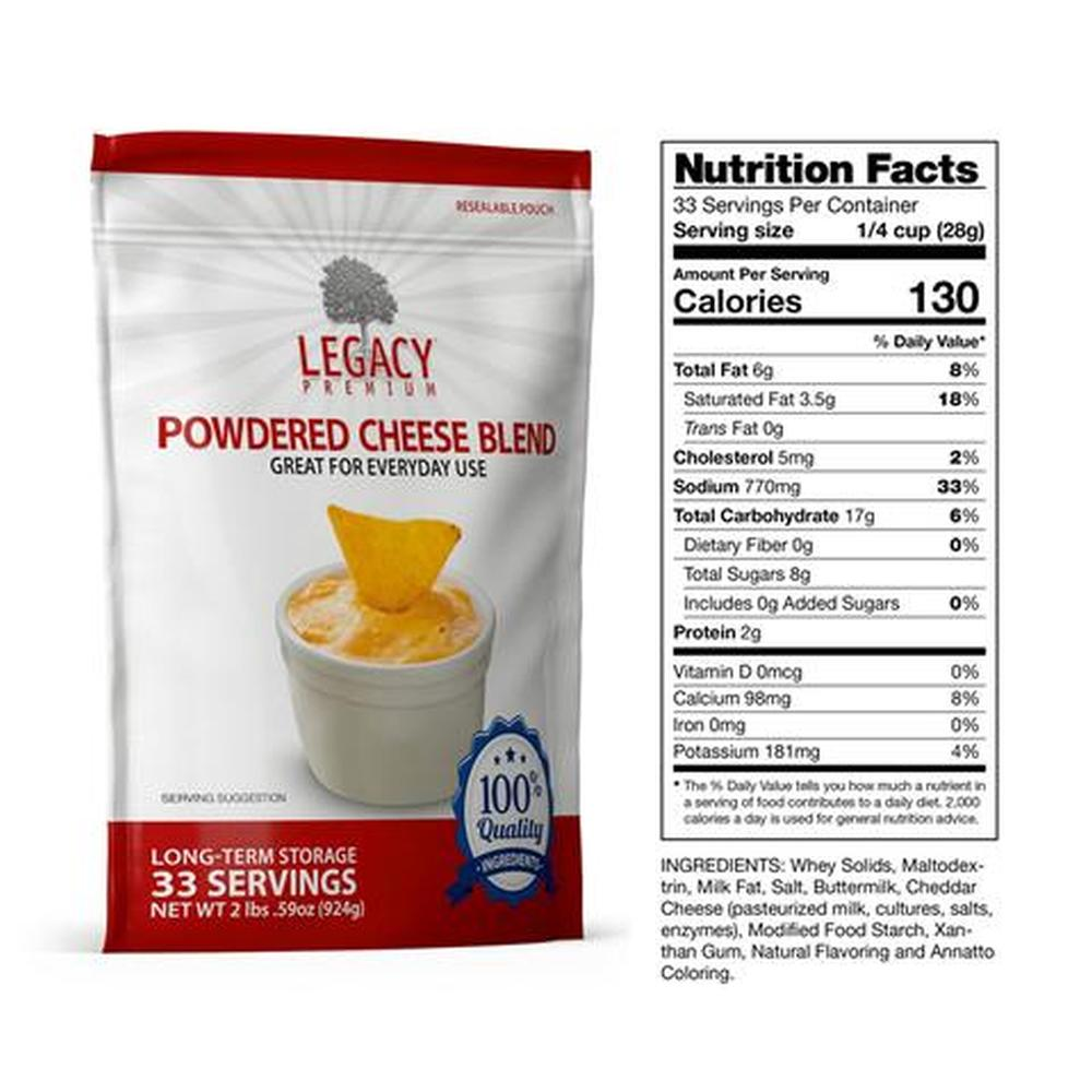 legacy cheese blend slices fact