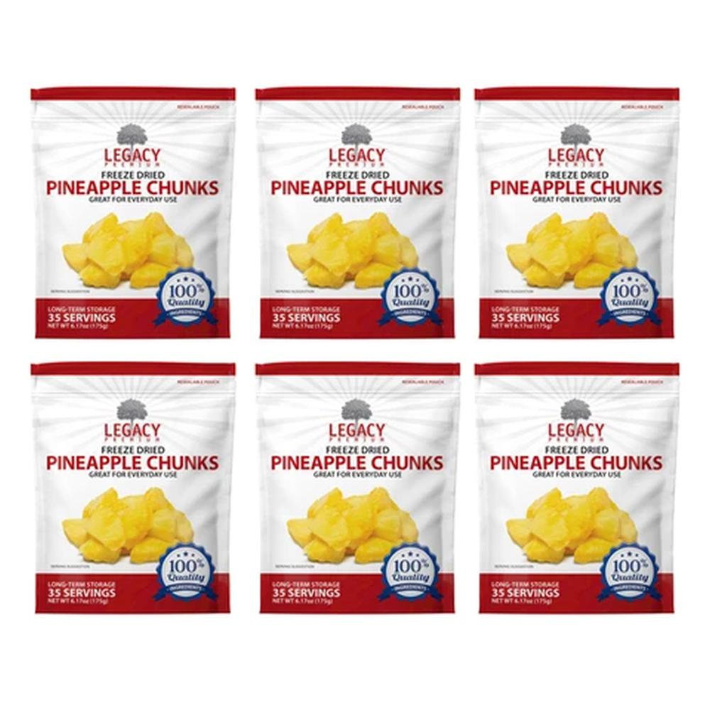legacy pineapple slices six pack
