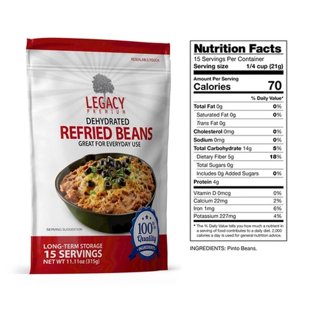 legacy refried beans slices fact