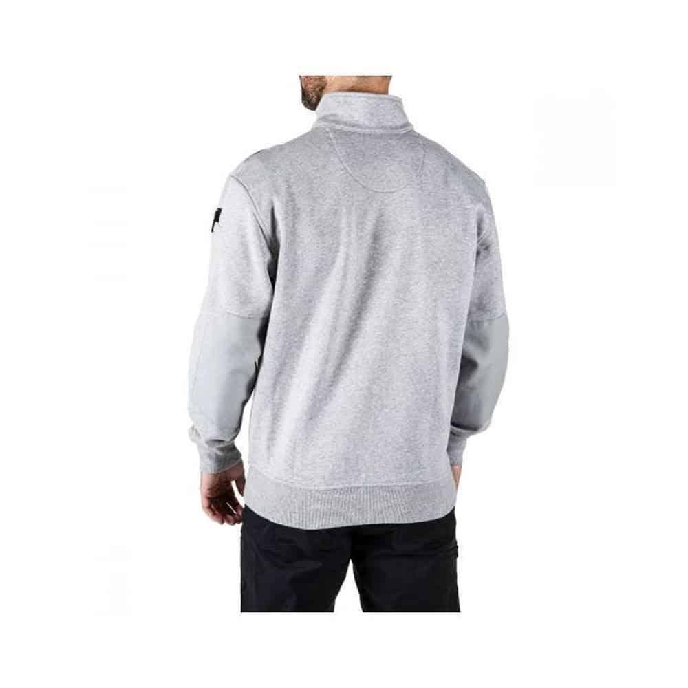 quarter zip gray 2