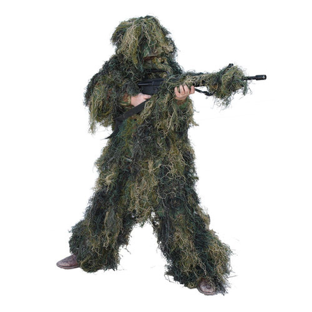 Red Rock 5Piece Youth Ghillie Suit Woodland Youth Size 14-16 Full Body
