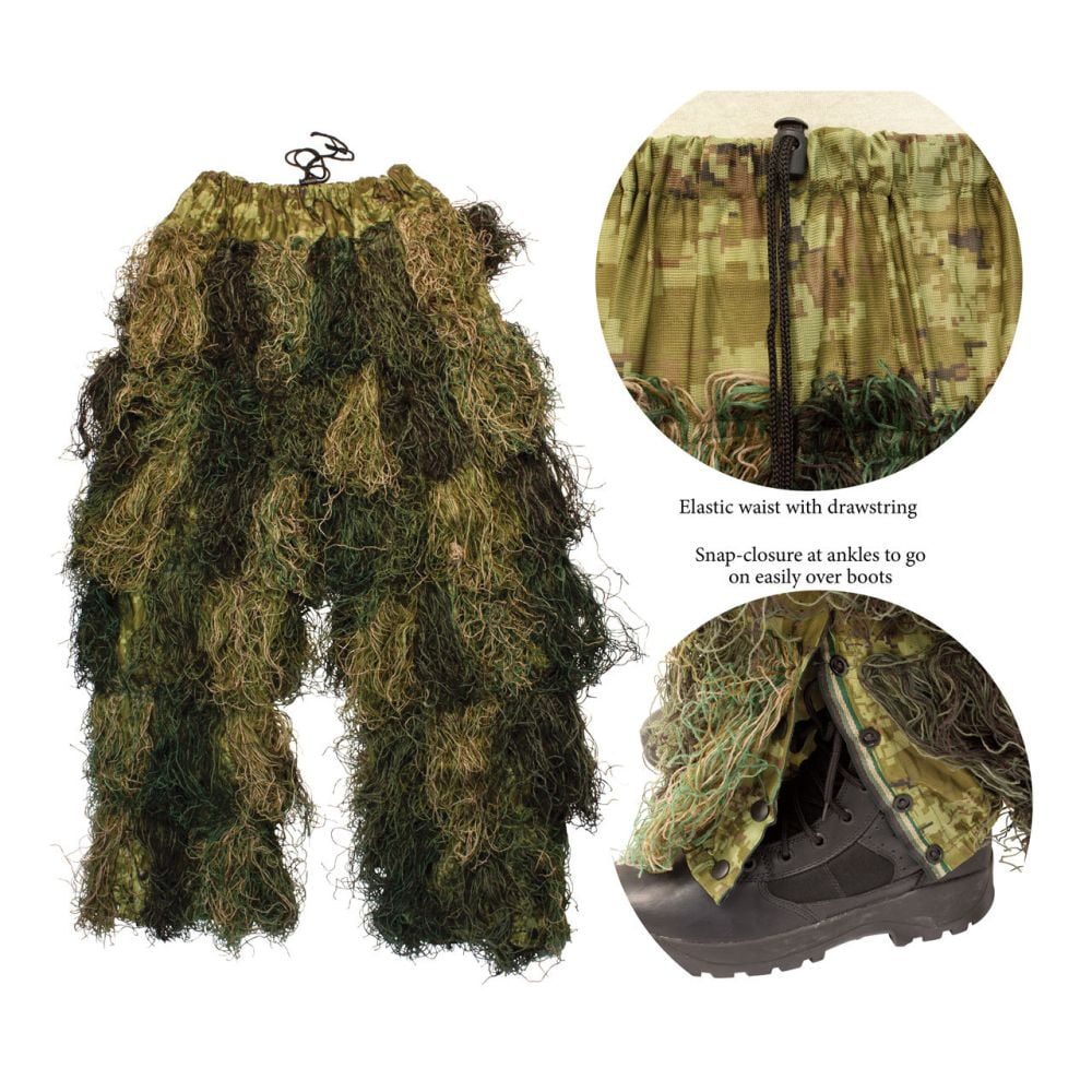 Red Rock 5Piece Youth Ghillie Suit Woodland Youth Size 14-16 Pants