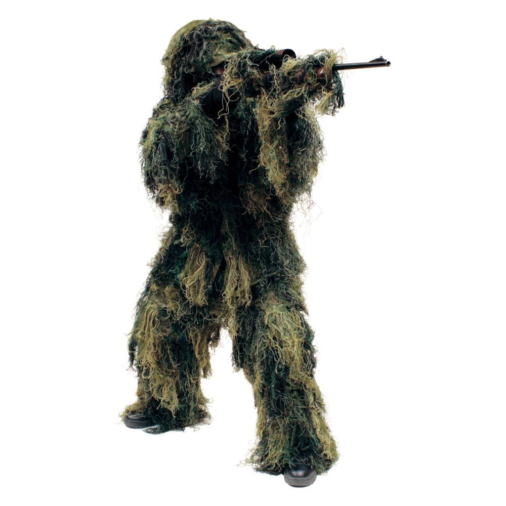 Red Rock 5-Piece Ghillie Suit Woodland – X-Large-2X-Large Full Body
