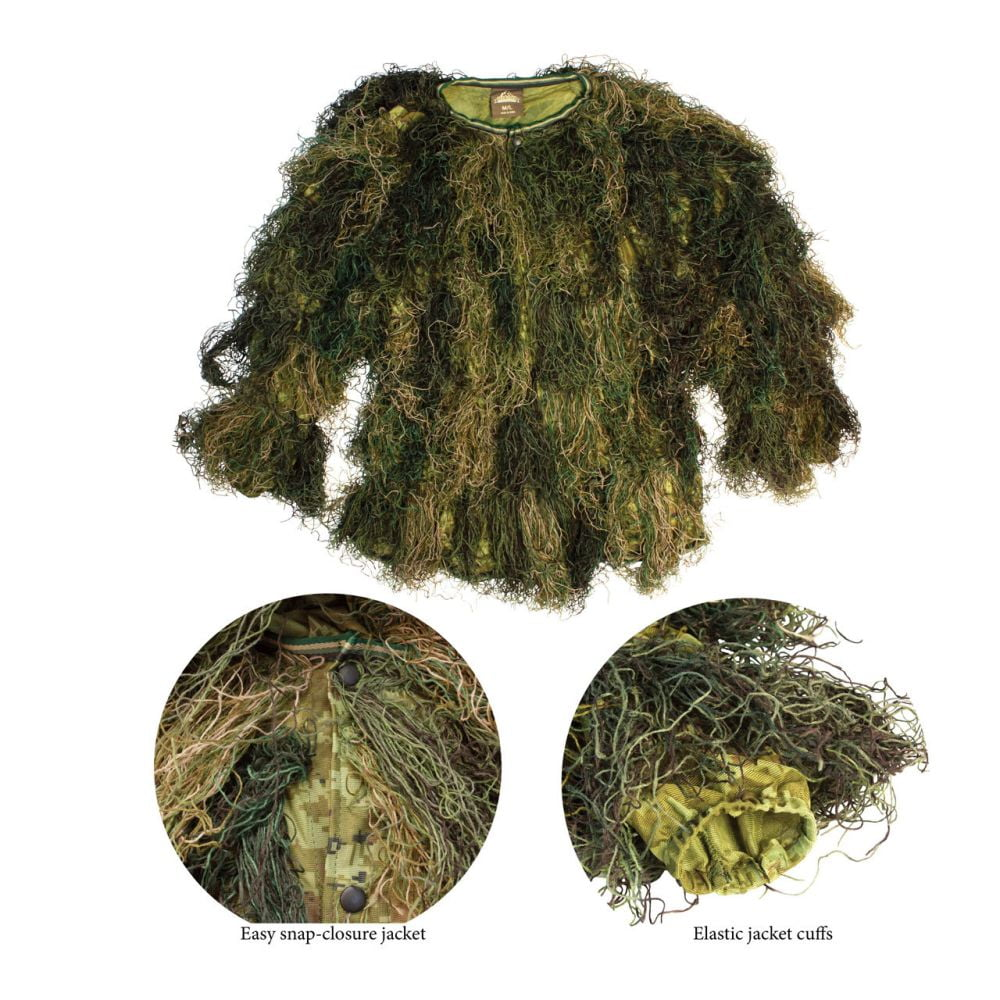 Red Rock 5-Piece Ghillie Suit Woodland – X-Large-2X-Large Shirt