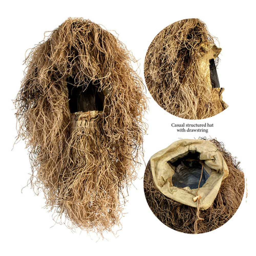 Red Rock 5-Piece Ghillie Suit Desert – Medium-Large Head