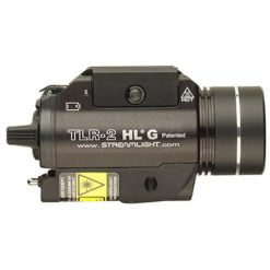 Streamlight TLR-2 HL G Mounted Rail Flashlight with Green Aiming Laser Side View