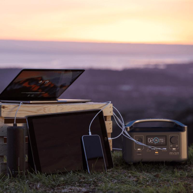 Ecoflow river 600 powering devices