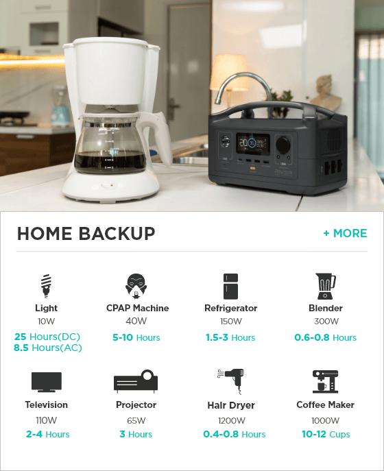 River 600 Home Backup