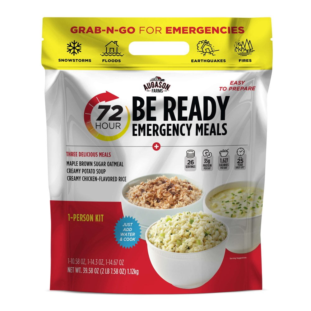 Augason Farms 72 Hour - 1 Person BE READY Emergency Meals