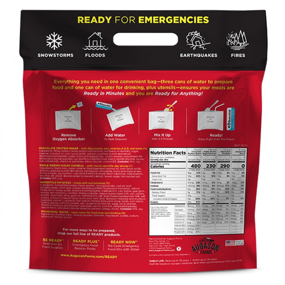 5 26671 2 Augason Farms Emergency Survival Ready Now Homestyle Pouch