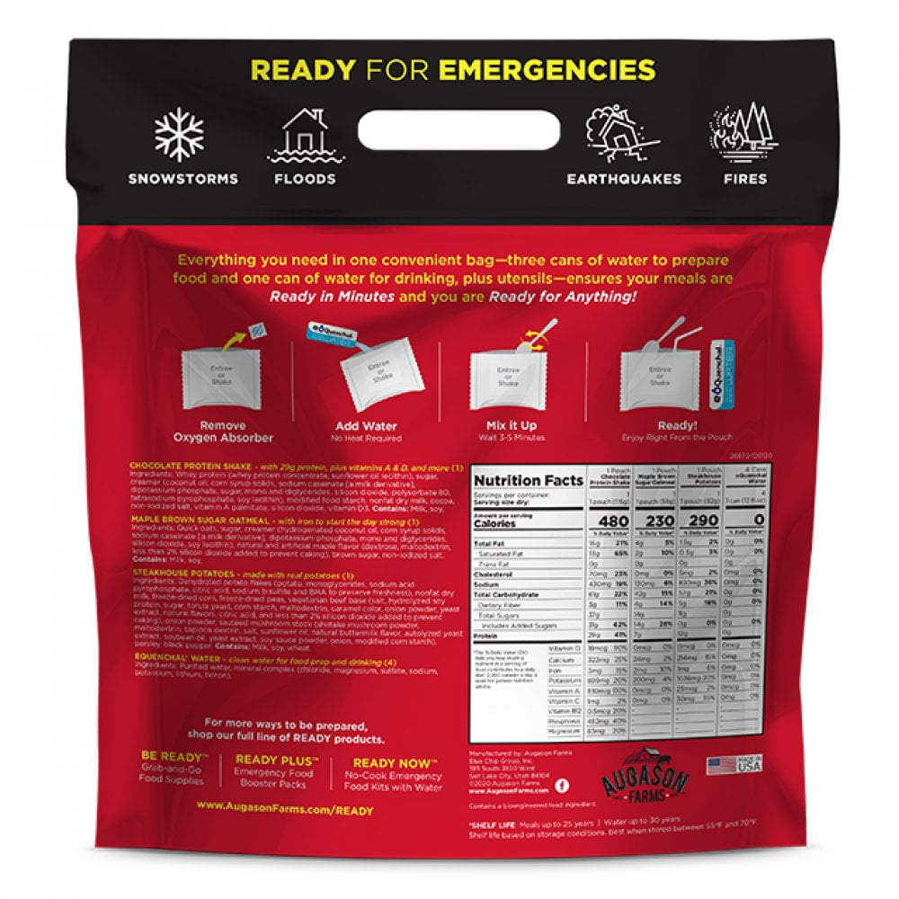 5 26672 2 Augason Farms Emergency Survival Ready Now Steakhouse Pouch