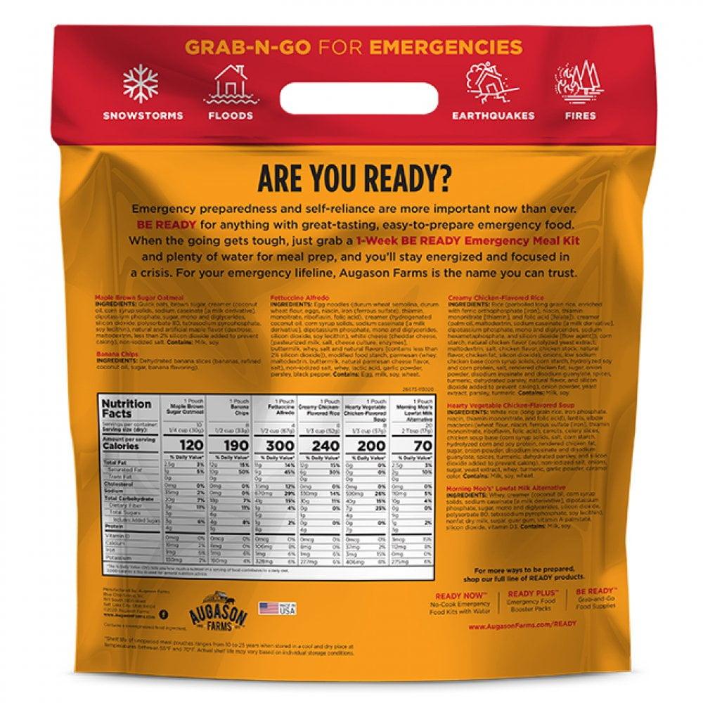 5 26673 2 Augason Farms Emergency Food 1 Week Be Ready Pouch